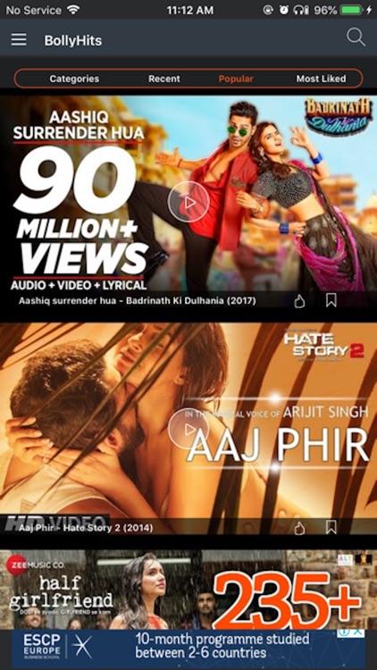 BollyHits: Hindi Videos 2019 screenshot-3