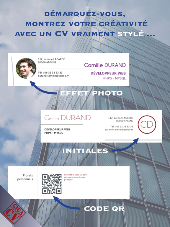 Un CV sur mesure avec giga-cv