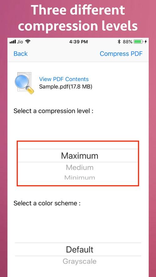 PDF Size Compressor App 截图