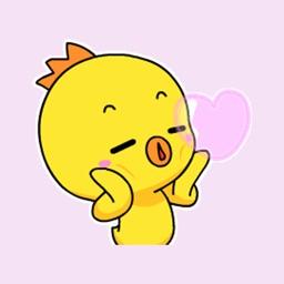 Ugly chick emoji stickers