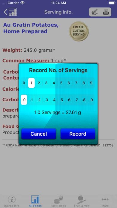 iCarbs screenshot four