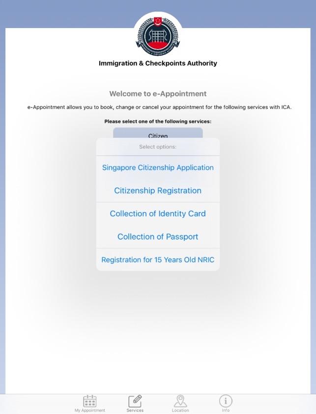 Ica s pass application status