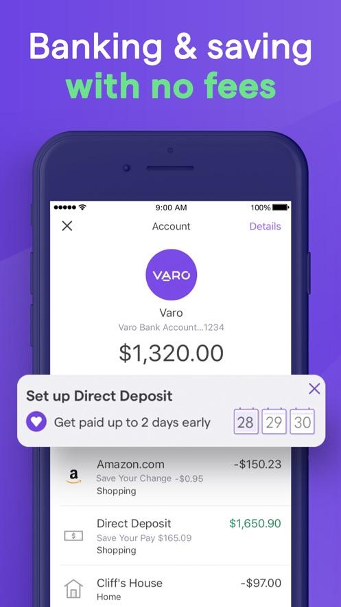 Varo: No Fee Mobile Banking】版本记录- iOS App版本更新记录