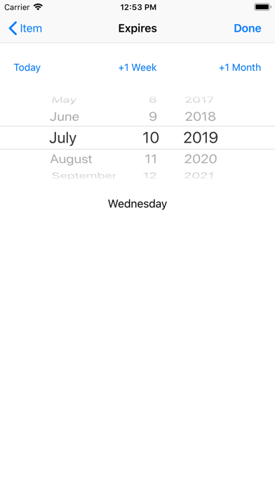 Use By Date screenshot two