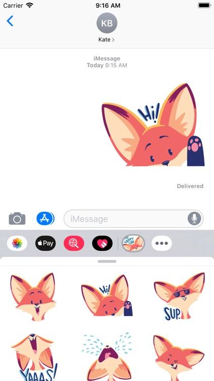 The Happy Fox Stickers