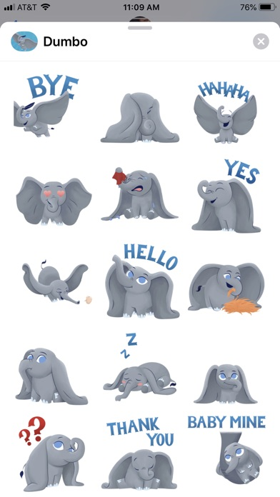 Disney Stickers: Dumbo screenshot 2