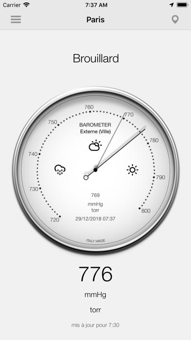 Screenshot #2 pour Baromètre - Pression