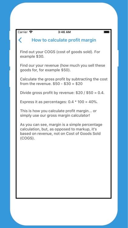 Margin and Markup Calculator + screenshot-3
