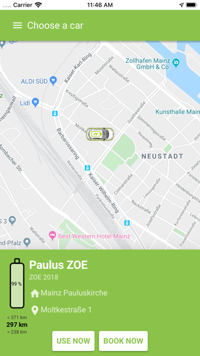 e-Carsharing in Bürgerhand Screenshot