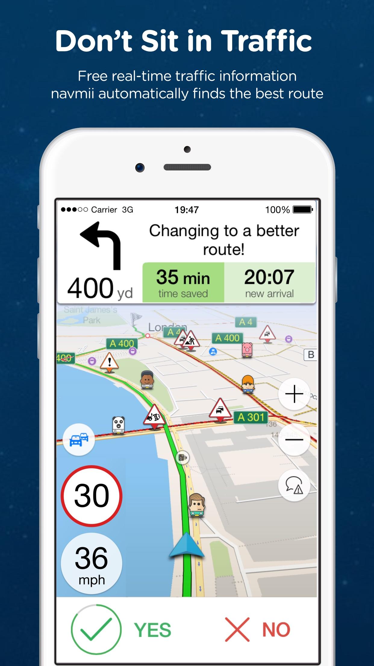 Navmii Offline GPS UK & ROI Screenshot