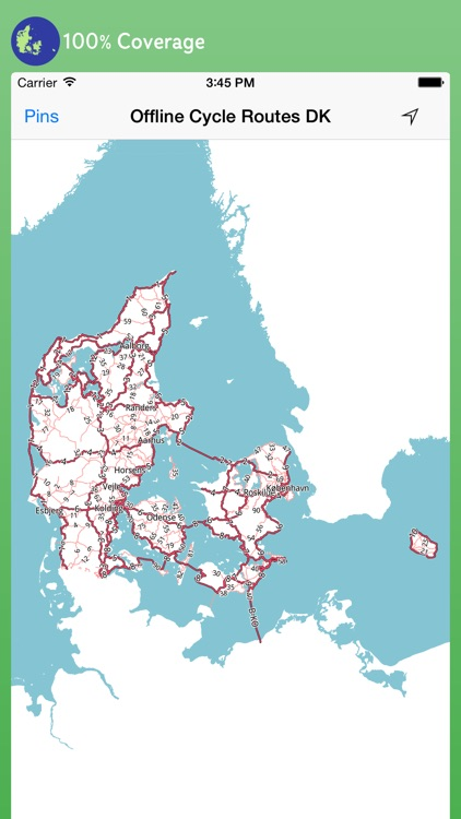 Offline Cycle Routes Denmark