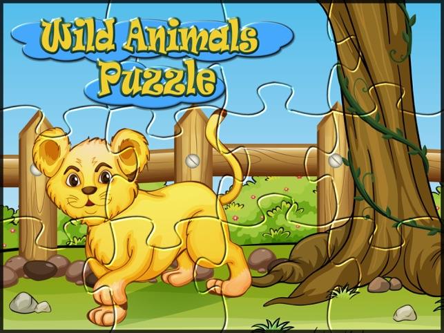 Wild animals kids puzzle games Screenshot