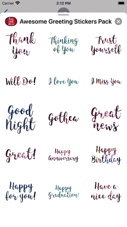 Awesome Greetings Sticker Pack screenshot-5