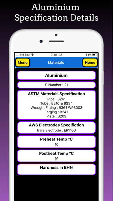 ASME Materials and Electrodes screenshot 8