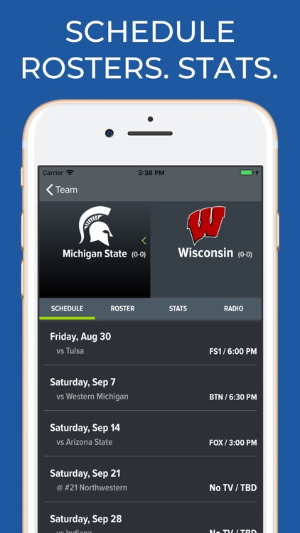 Wisconsin Football Schedules screenshot-8