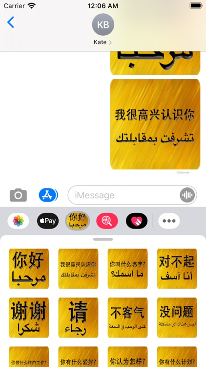 Chinese Arabic Sticker screenshot-3