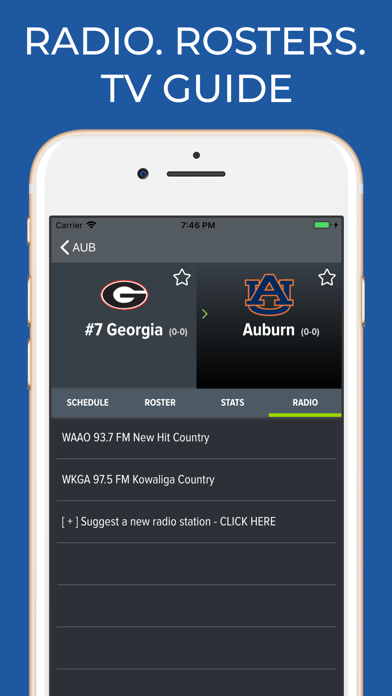 College Football Guide & Radio Screenshots