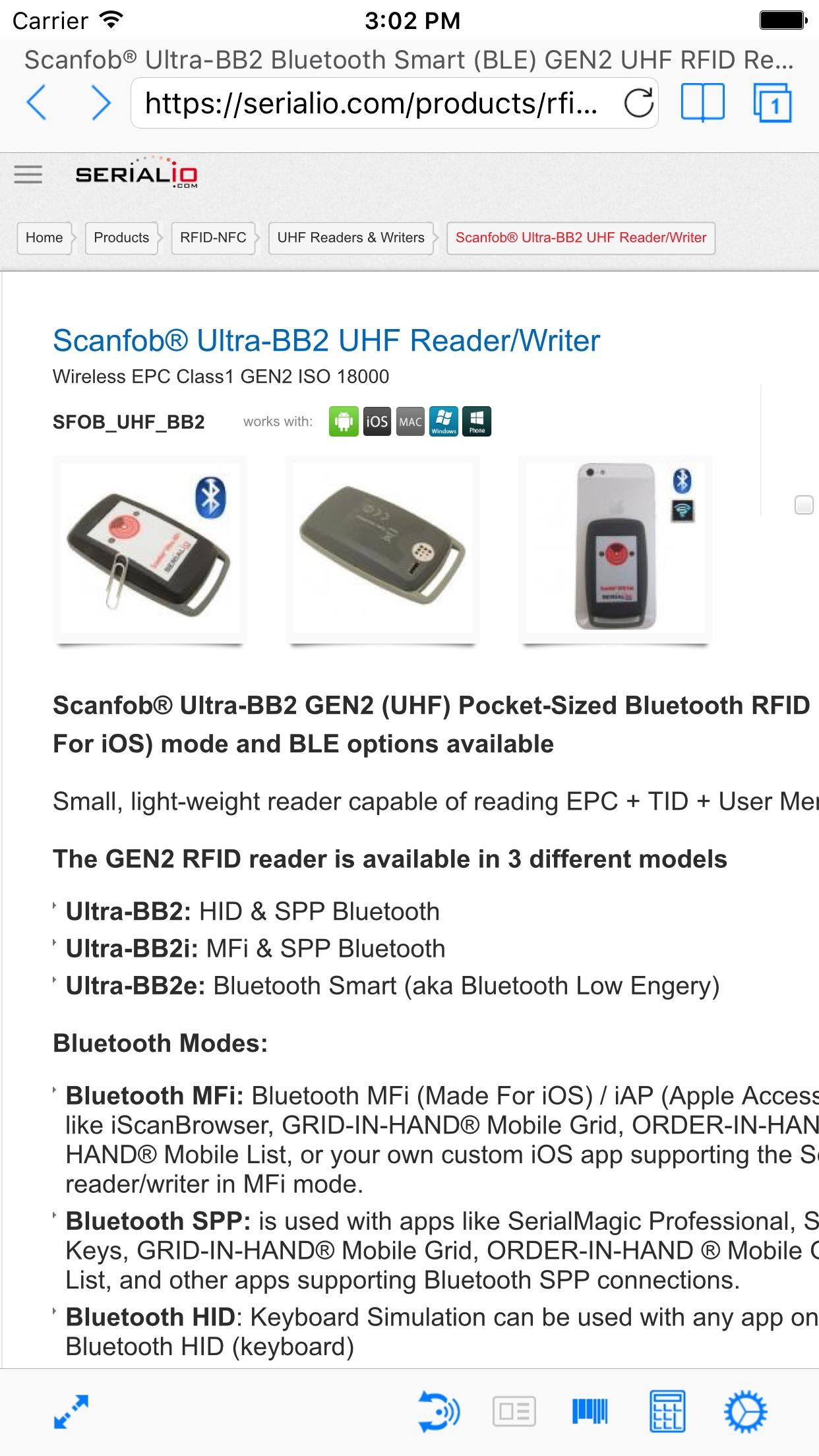 iScanBrowser Screenshot