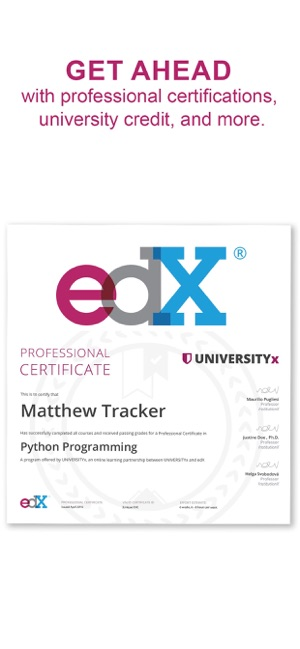 edX: Courses by Harvard & MIT on the App Store