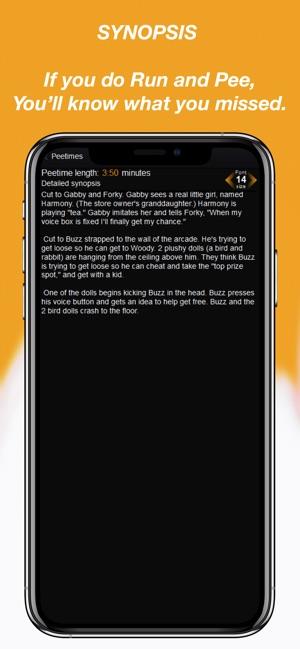 RunPee Screenshot