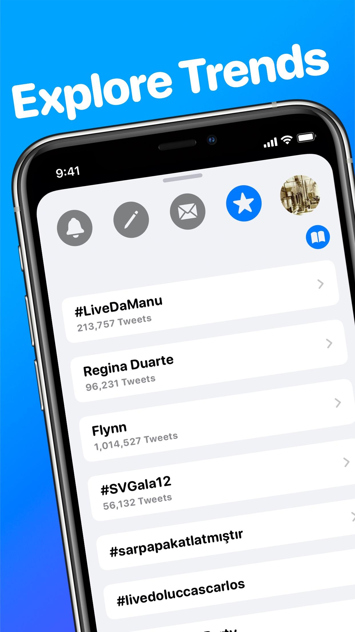 Screenshot do app Neptune for Twitter