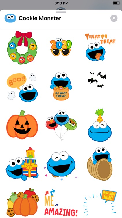 Cookie Monster Stickers screenshot-3