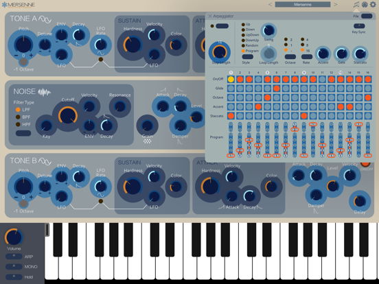 Screenshot #5 pour Mersenne Synthesizer