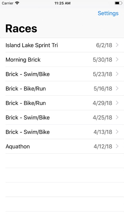 Triathlon Tracker