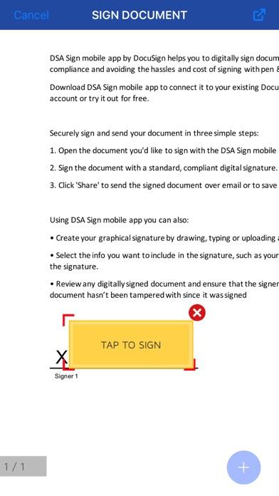 DSA Sign screenshot three