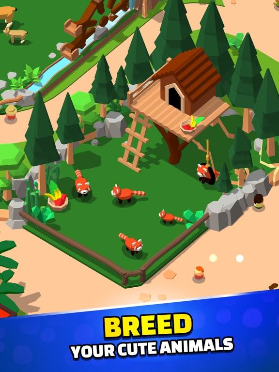 Idle Zoo Tycoon 3D iPad app afbeelding 3