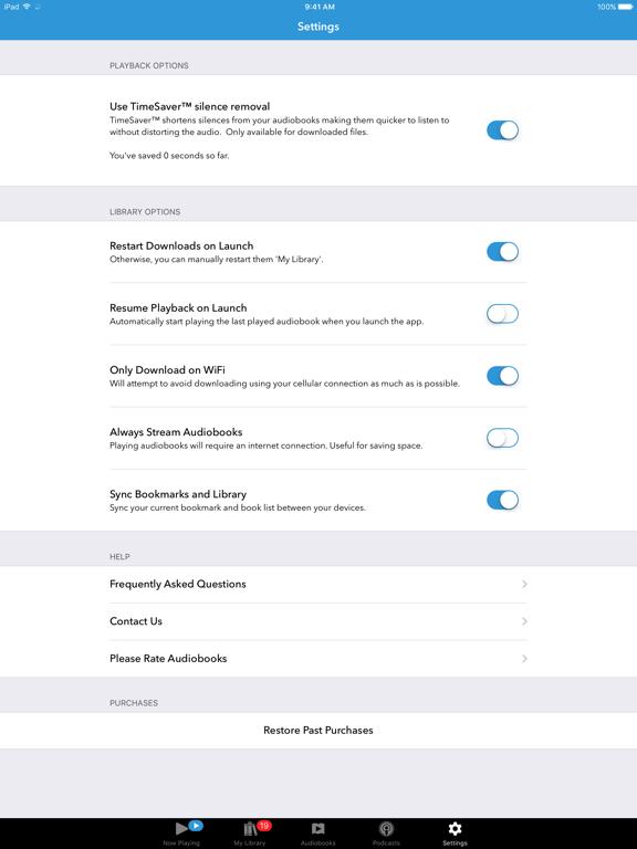 Audiobooks iPad