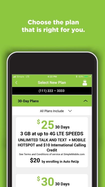 SIMPLE Mobile My Account screenshot-3