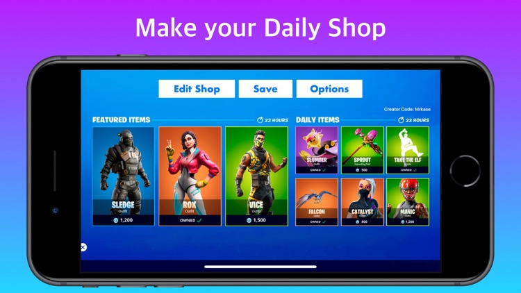 Shop Maker Quiz for Fortnite