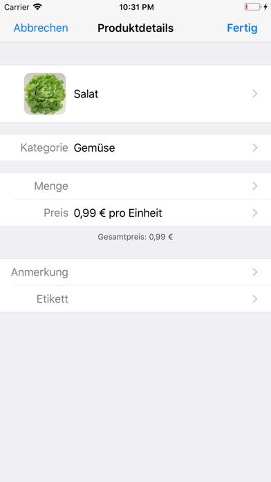 Screenshot for ShoppingList (Einkaufsliste) in Germany App Store