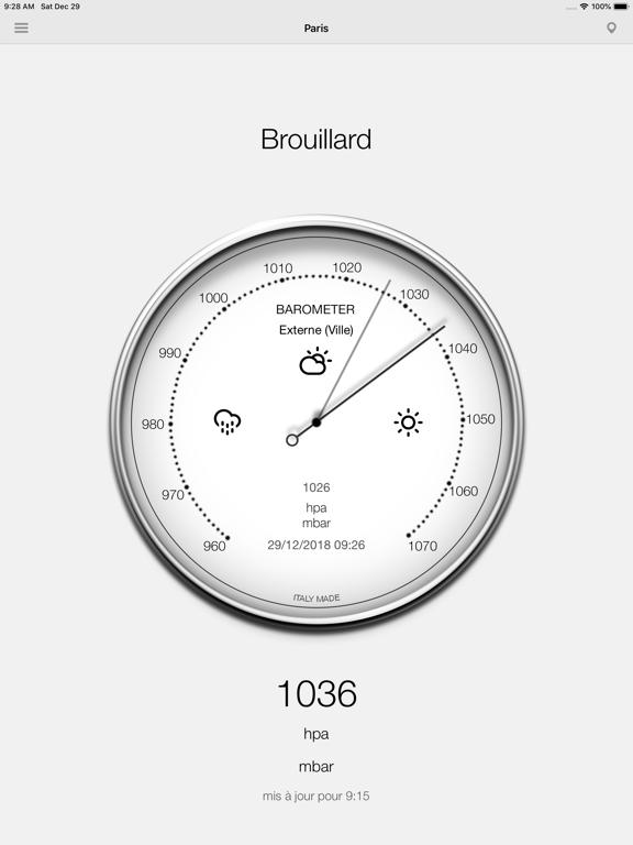 Screenshot #4 pour Baromètre - Pression
