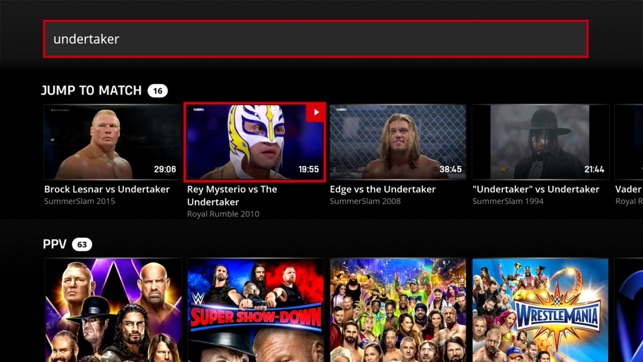 WWE on the App Store