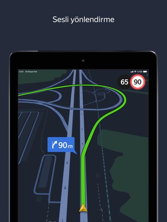 Yandex Navigasyon – Trafik ipad ekran görüntüleri