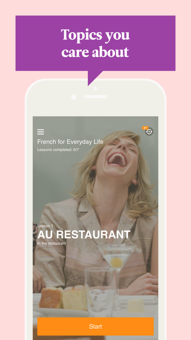 Screenshot for Babbel – Learn French in United Kingdom App Store