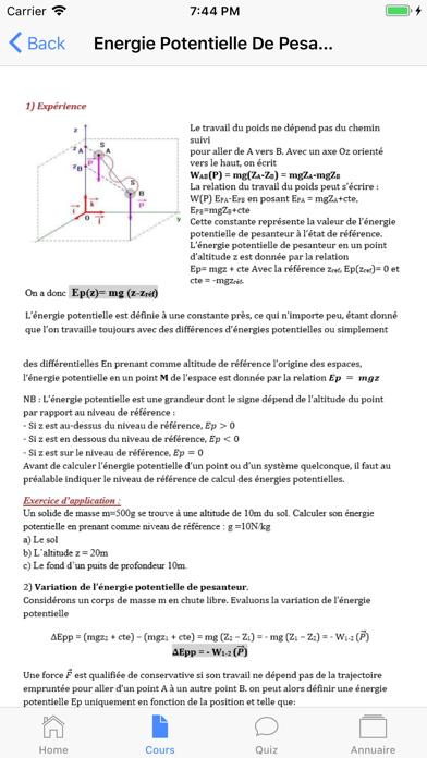 Physique Première S screenshot 2