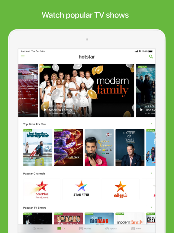 Hotstar by Novi Digital (iOS, United States) - SearchMan App