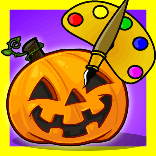 Color Objects Kids Halloween icon