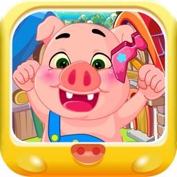 三只小猪 修理工屋顶大作战