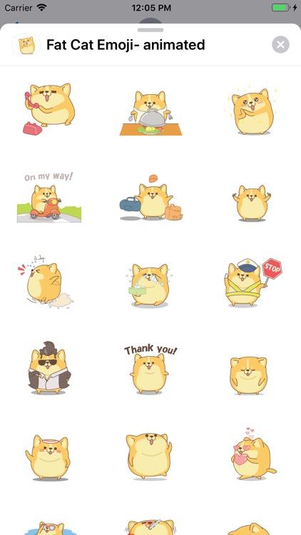Fat Cat Emoji- animated