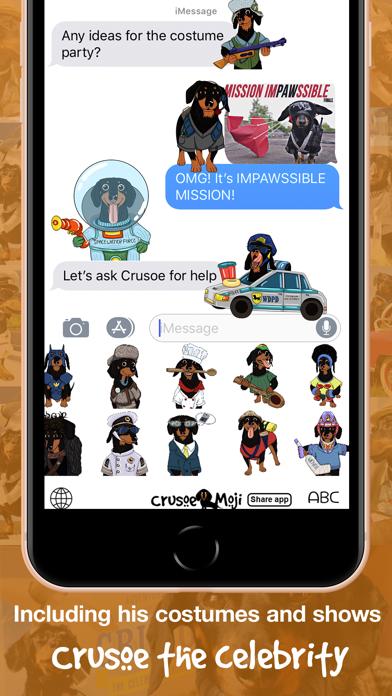 CrusoeMoji - Dachshund stickerのおすすめ画像4