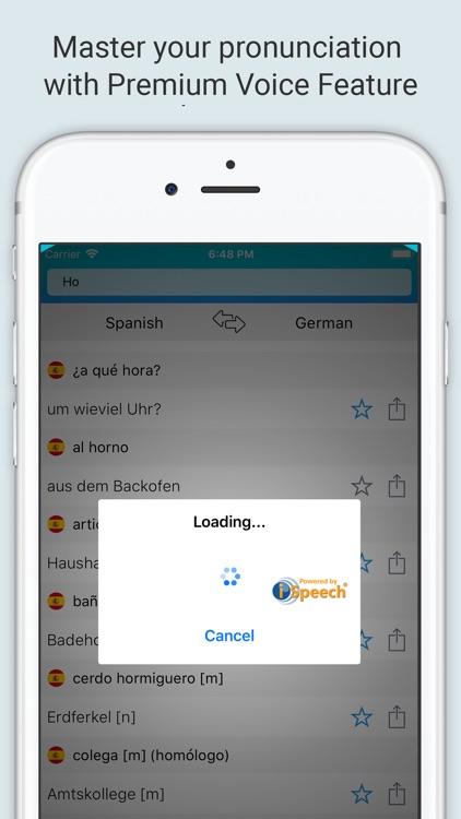 Spanish-German Dictionary +
