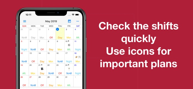 Shift Work Calendar on the App Store