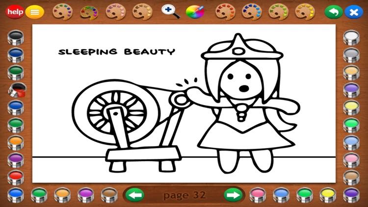 Fairy Tales Coloring Book screenshot-6