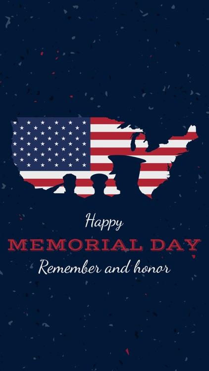 Happy Memorial Day Stickers IM
