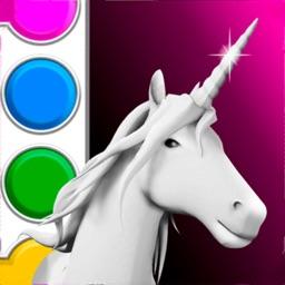 Unicorn 3D Coloring Book