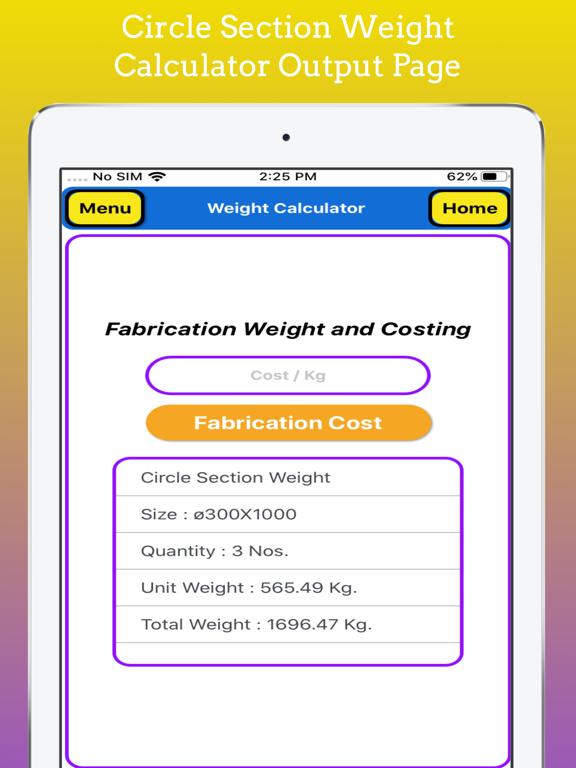 Fabrication Weight Calculator screenshot 19